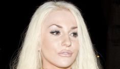 Courtney Stodden's blue pleather dress & giant collar: disturbing or just budget?