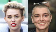 Sinead O'Connor to Miley Cyrus: Stop being naked & licking sledgehammers