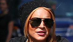 Lindsay Lohan goes without a helmet on a bike ride with Dina in NYC: typical Lohan?