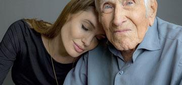 When Angelina Jolie met WWII hero Louis Zamperini, he gave her a necklace!
