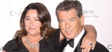 Pierce Brosnan worried that his carb & wine-heavy diet is making him lose his hotness