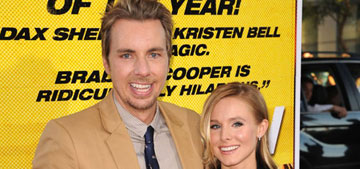 Kristen Bell & Dax Shepard got married in a courthouse with no fanfare: awesome?