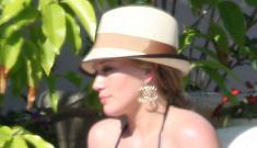 Hilary Duff vacations in the Bahamas, provides bikini photo ops