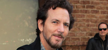 Eddie Vedder is 48 years old & he still looks like this: would you hit it?
