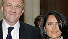 Yes, Salma Hayek is pregnant and she's also engaged