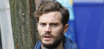Jamie Dornan, the new Christian Grey, got pap'd with his pregnant wife Amelia Warner