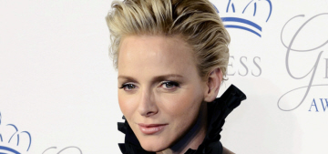 Princess Charlene in a rich green Ralph Lauren gown in NYC: weird or gorgeous?