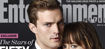Jamie Dornan & Dakota Johnson pose on EW's '50 Shades' cover: not bad?
