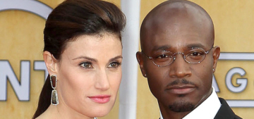 Taye Diggs & Idina Menzel are over?  He 'brags about his single status to strippers'