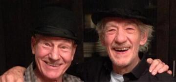 Patrick Stewart & Ian McKellen tweet a Thanksgiving portrait: amazing?