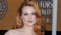 Evan Rachel Wood says nothing's going on with Mickey Rourke