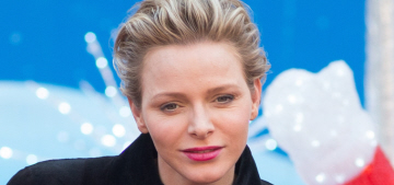 Princess Charlene looks sad in Monte Carlo after Charlotte Casiraghi gives birth