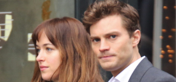 Dakota Johnson & Jamie Dornan film more '50 Shades' exteriors: sexy or budget?
