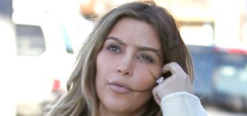 Kim Kardashian shows off her Christmas present from Kanye: an obscene Birkin bag