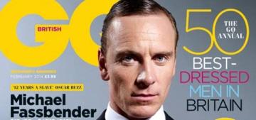 Michael Fassbender's February GQ UK cover: pasty undertaker fug or still hot?