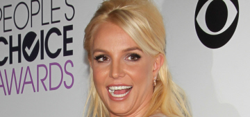 Britney Spears in Mikael D at the People's Choice: budget Marchesa or cute?