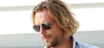 Gabriel Aubry owes $200K in back taxes, he lives on Halle's support payments?