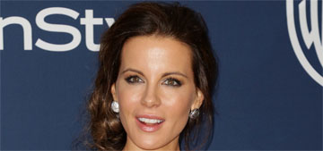 Kate Beckinsale in Zuhair Murad at the Golden Globes: botoxy showgirl?