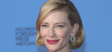 Cate Blanchett in black Armani at the Globes: immaculate perfection?