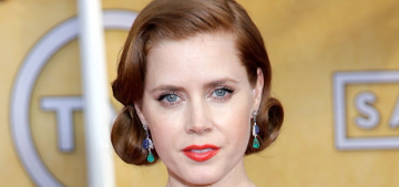 Amy Adams in blue Antonio Berardi at the SAGs: lovely or not that great?