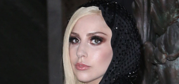 Lady Gaga supports Versace in Paris: does Gaga look like Lana del Rey now?