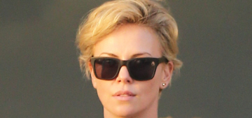 Charlize Theron grabbed Sean Penn's booty during an outing to Whole Foods