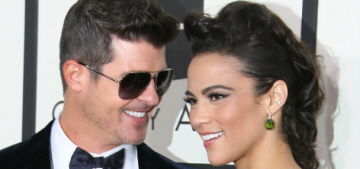 Paula Patton in zebra-print Nicolas Jebran at the Grammys: tacky & try-hard?