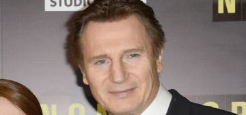 Liam Neeson looks dashing at the Paris premiere of 'Non-Stop': would you hit it?
