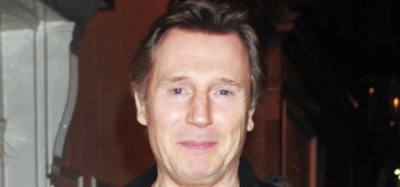 Liam Neeson steps out in London with his on-again girlfriend Freya St. Johnston