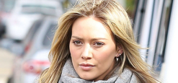 """""""Hilary Duff's casual style is pretty cute & very scarfy"""" links"""