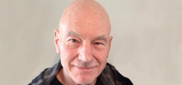 Patrick Stewart, 73, shows off one-handed pushups on Twitter: awesome?