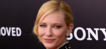 Cate Blanchett in Proenza Schouler at the 'Monuments Men' premiere: not cute?