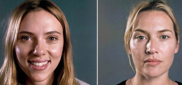 Are Vanity Fair's Chuck Close portraits really makeup-free?