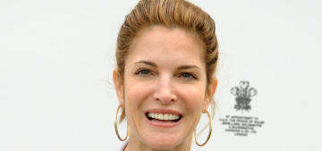 Stephanie Seymour poses for Bazaar with her sons clinging to her legs: creepy?