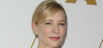 Cate Blanchett in silver Prada at the Oscar luncheon: lovely or chintzy?
