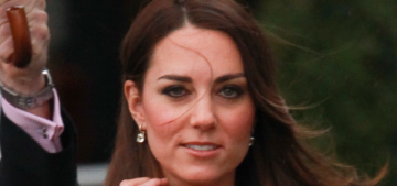 Duchess Kate in a blue LK Bennett dress in London: chic or not so much?