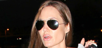 Angelina Jolie & Maddox arrive in London while Brad buys diamonds for his girls