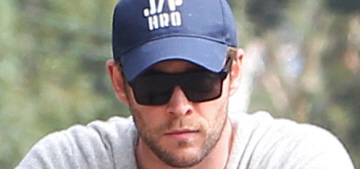 Chris Hemsworth takes India Rose for a bike ride in Malibu: cute or grumpy?