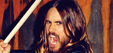 Jared Leto gets hairy & metaphysical in Flaunt: weirdly attractive or too try hard?