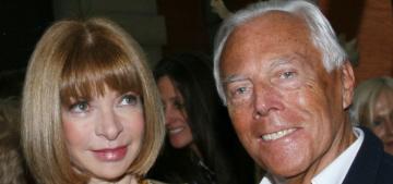 Giorgio Armani slams Anna Wintour for 'snubbing' his Milan show