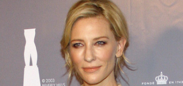 Cate Blanchett in fringed Valentino at the Rodeo Drive event: tablecloth chic?