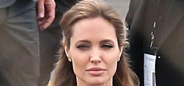 Angelina Jolie in black Saint Laurent at the Spirit Awards: sack-fabulous or sack-fug?