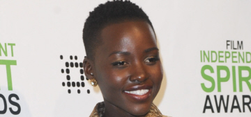 Lupita Nyong'o in gold Stella McCartney at the Spirit Awards: adorable or awful?