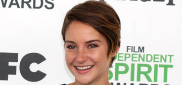 Shailene Woodley in cutout Lyn Devon at the Spirit Awards: too casual or sweet?