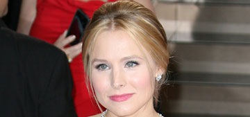 Kristen Bell in white Roberto Cavalli at the Oscars: staid or striking?
