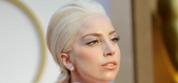Lady Gaga wears Versace & awful wiglets at the Oscars: budget or not that bad?