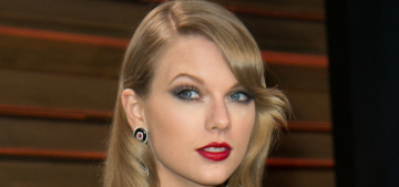 Taylor Swift in Julien Macdonald at the VF Oscar party: matronly or sophisticated?