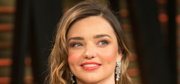 Was Miranda Kerr showing off her new implants at the VF Oscar party?