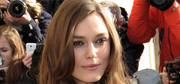 Keira Knightley in a black and white illusion Chanel dress in Paris: lovely?