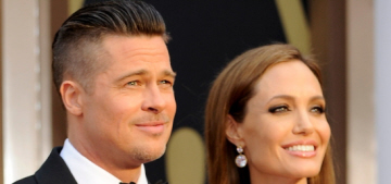 Brad Pitt wore diamond cufflinks, a gift from Angelina, when he won his Oscar